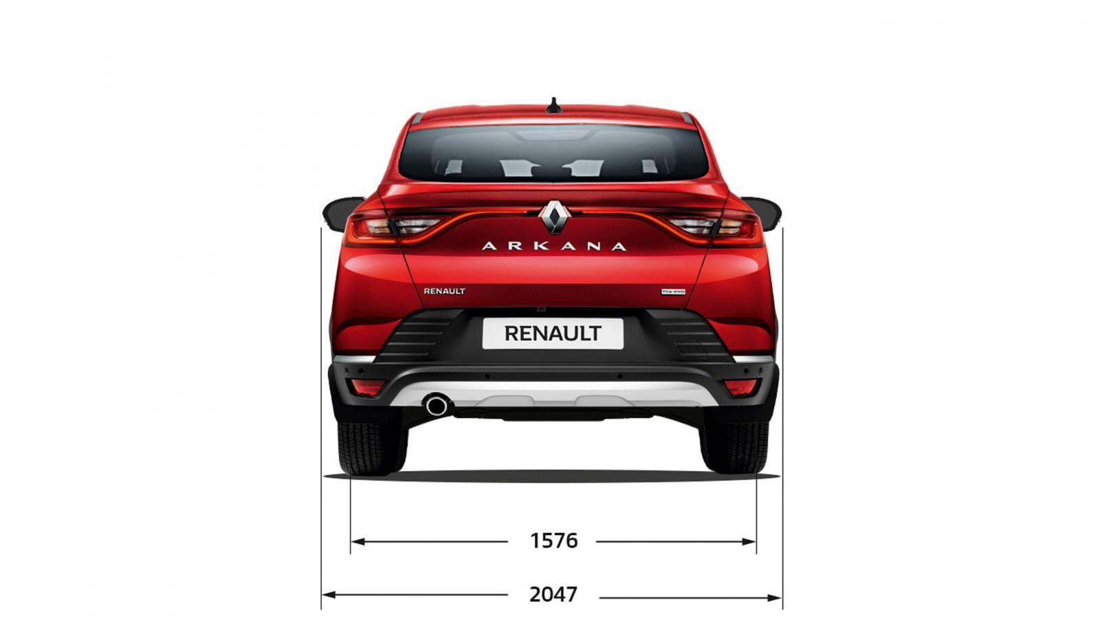 Ширина НОВИЙ Renault ARKANA