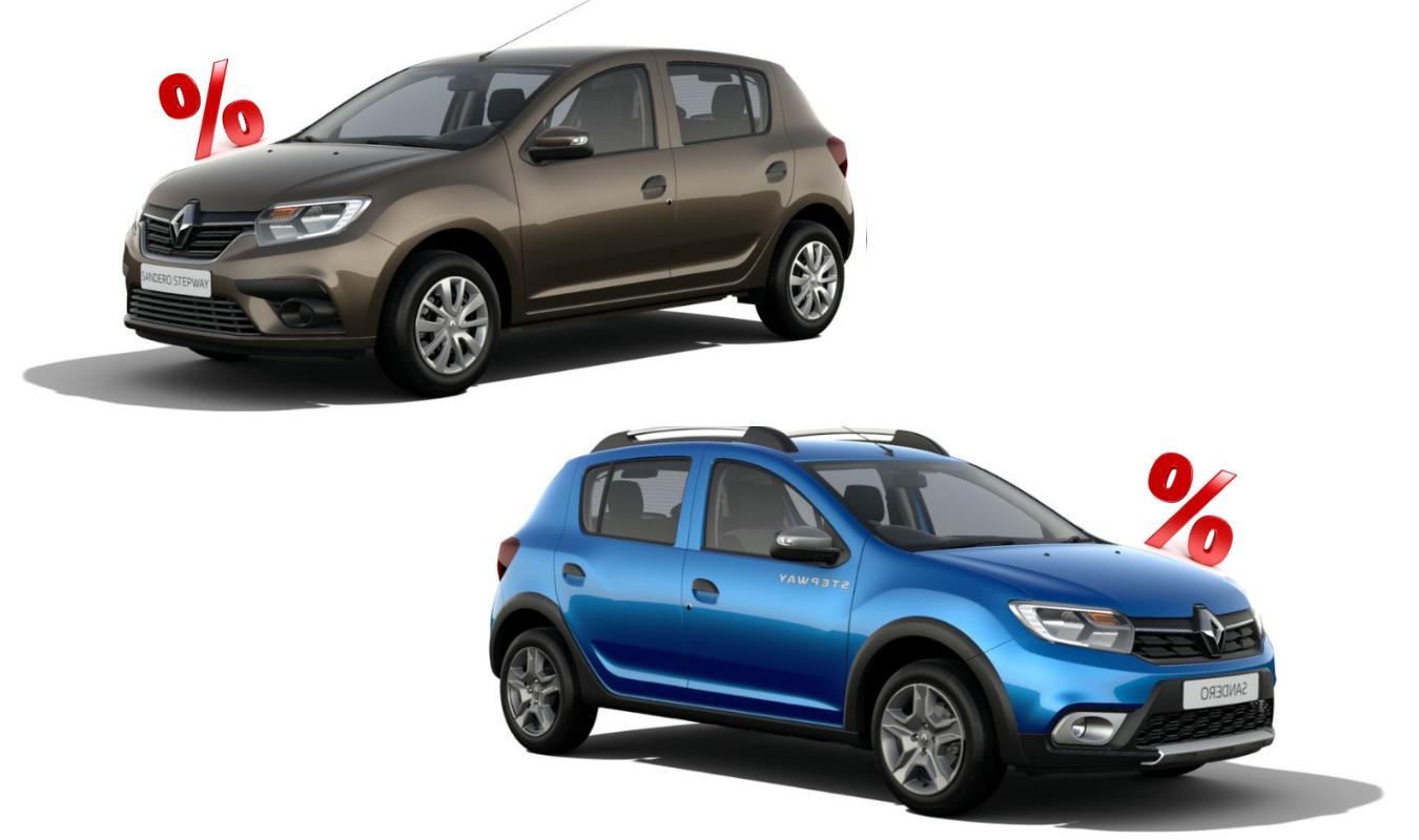 Специальная цена* на автомобили Renault SANDERO та SANDERO STEPWAY