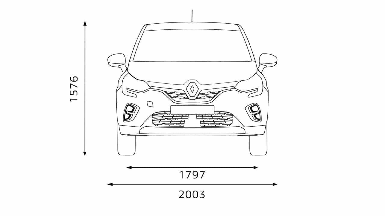 Висота Новый Renault CAPTUR