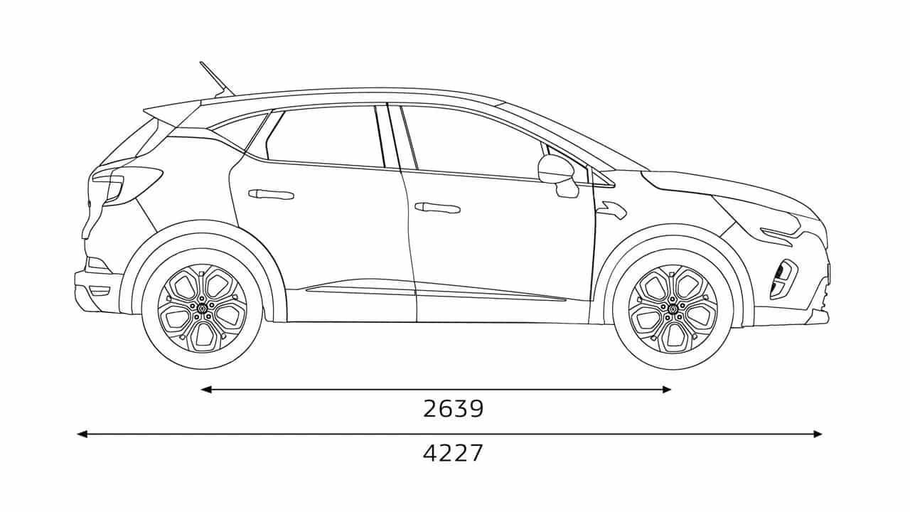 Длина Новый Renault CAPTUR