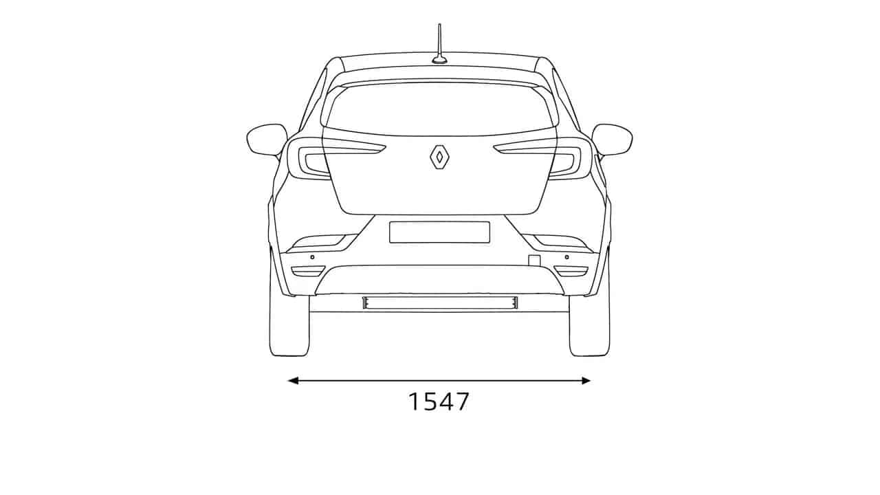 Ширина Новый Renault CAPTUR